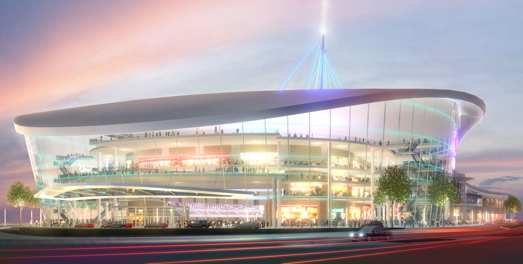 Arena Concept Architectural 3d Rendering