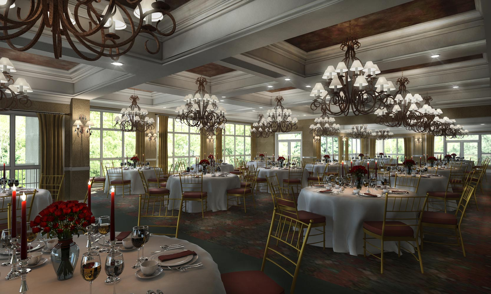 Governors Club Architectural 3d Rendering
