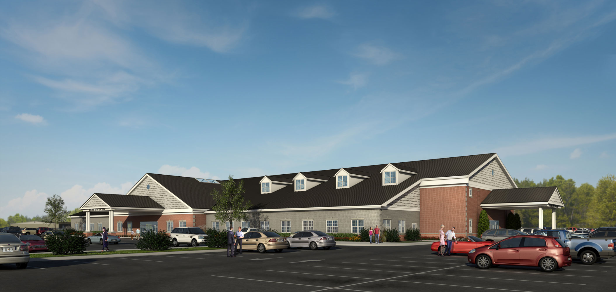 BSC Auto Auction Architectural 3D Rendering