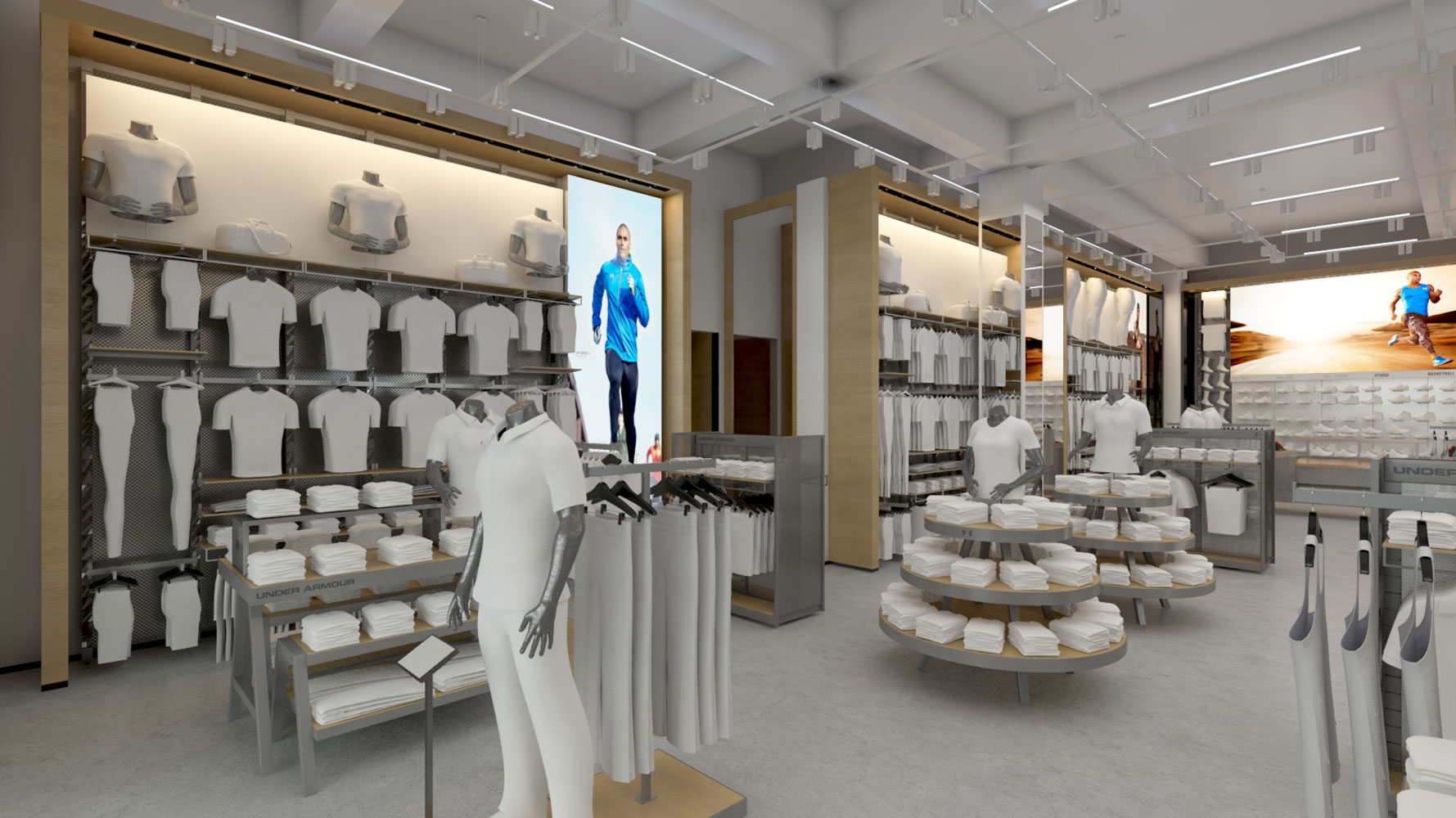 Under Armour Stores Architectural 3d Rendering