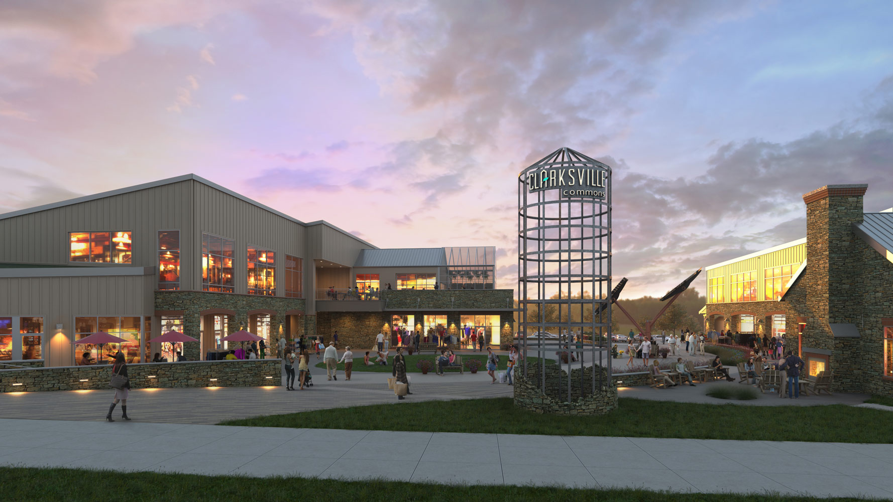 Clarksville Commons Architectural 3d Rendering