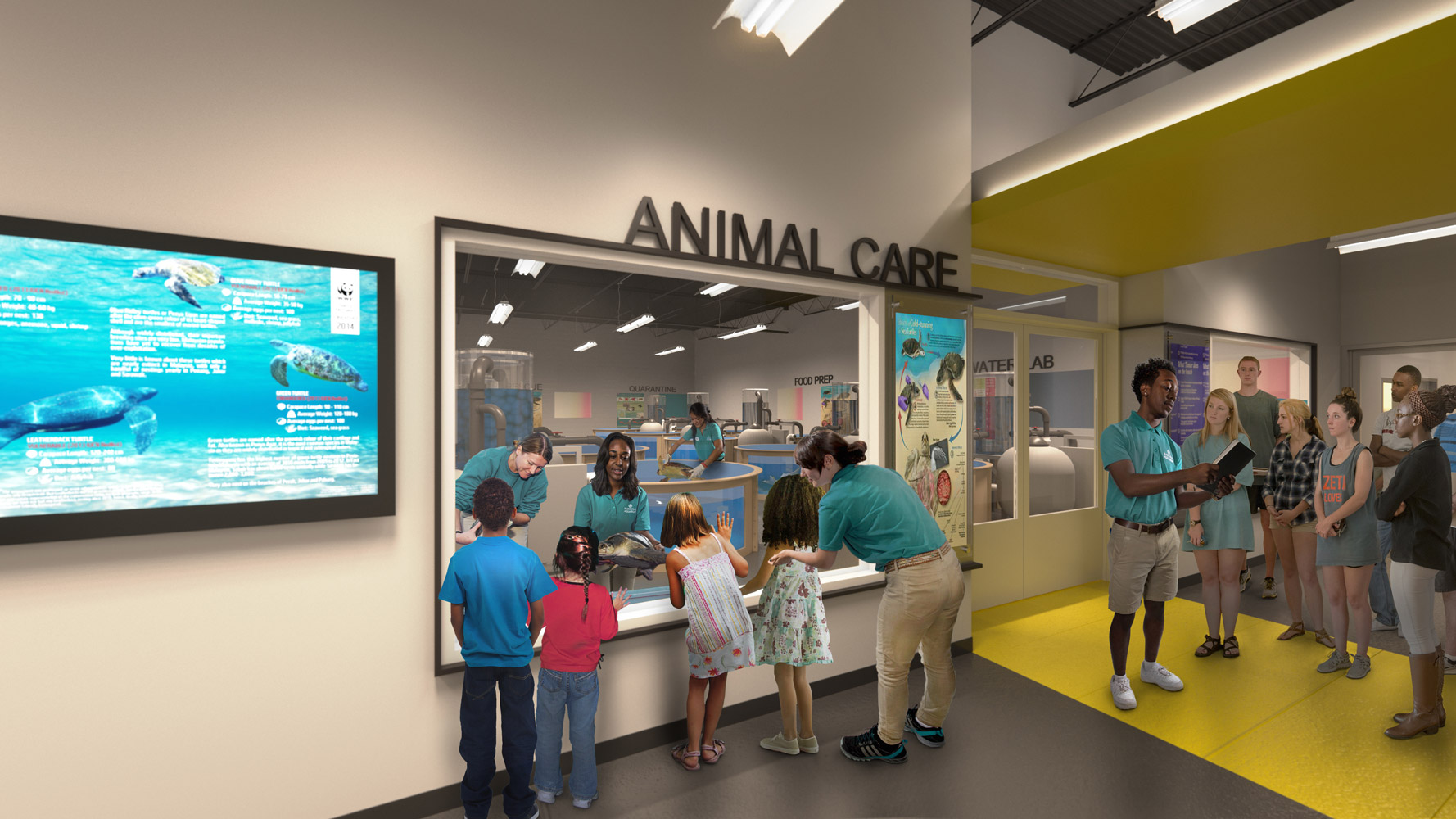 National aquarium architectural 3d rendering for Fish store baltimore